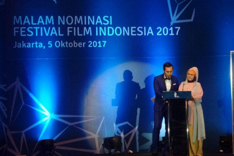 Pengumuman daftar nominasi Festival Film Indonesia (FFI) 2017 di Raffles Hotel, Jakarta Selatan, Kamis (5/10/2017) malam.