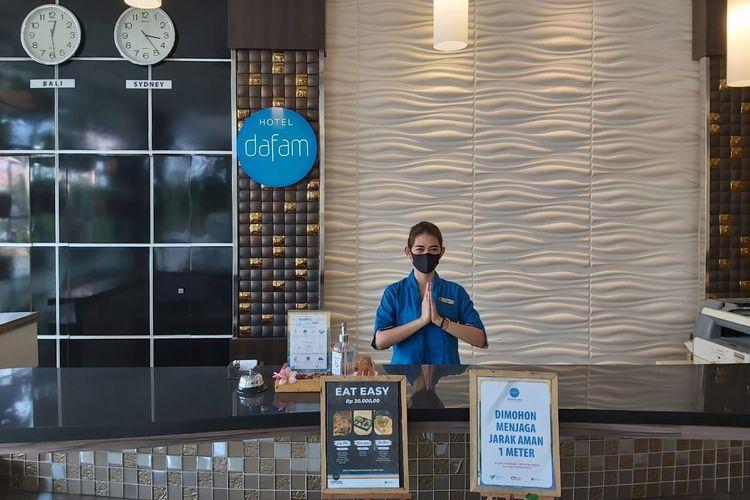 Dafam Hotels menerapkan protokol kesehatan Covid-19