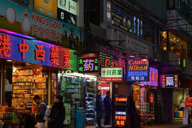 Ilustrasi Hong Kong.
