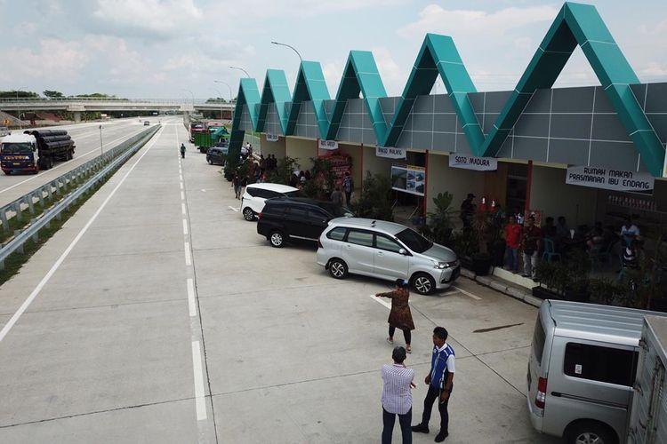 Ilustrasi rest area di jalan tol