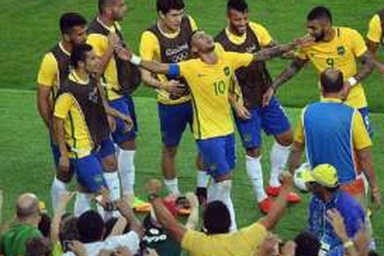 Untuk Kali Pertama, Brasil Rebut Emas Sepak Bola Olimpiade
