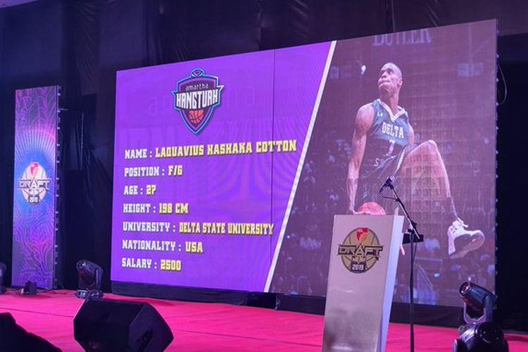 Amartha Hangtuah memilih Laquavius Kashaka Cotton sebagai salah satu dari 3 pemain asing untuk menghadapi IBL musim 2020.
