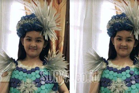 Bocah 11 Tahun Ini Ubah Botol Plastik Jadi Gaun Cantik Bernama Cleopatra