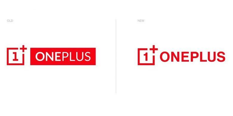 Ilustrasi logo lama dan baru pada OnePlus