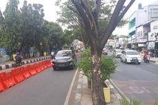 Uji Coba Contraflow di Jalan Arif Rahman Hakim Depok Mulai Diterapkan