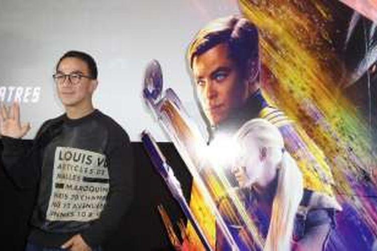 Artis peran Joe Taslim hadir dalam pemutaran film Star Trek Beyond yang ia bintangi di XXI Epicentrum, Kuningan, Jakarta Selatan, Senin (18/7/2016).