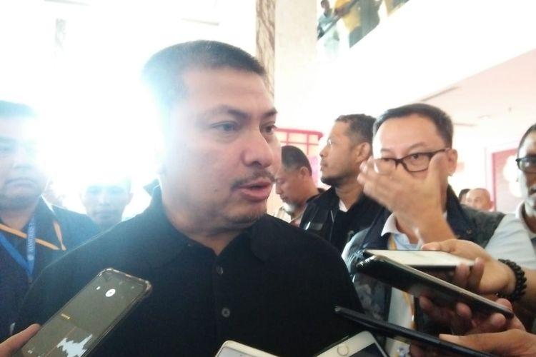Wakil Ketua Umum PAN Mulfachri Harahap di Hotel Claro, Kendari, Sulawesi Tenggara, Senin (10/2/2020).
