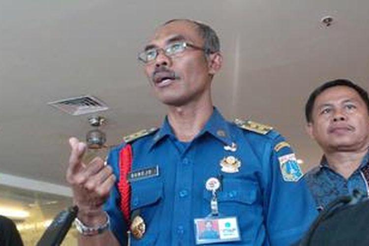 Kepala Dinas Pemadam Kebakaran dan Penanggulangan Bencana DKI Subejo.