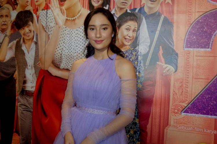 Tatjana Saphira saat menghadiri gala premier film Sweet 20 di CGV Cinemas Grand Indonesia, Jakarta Pusat, Jumat (16/6/2017) malam.