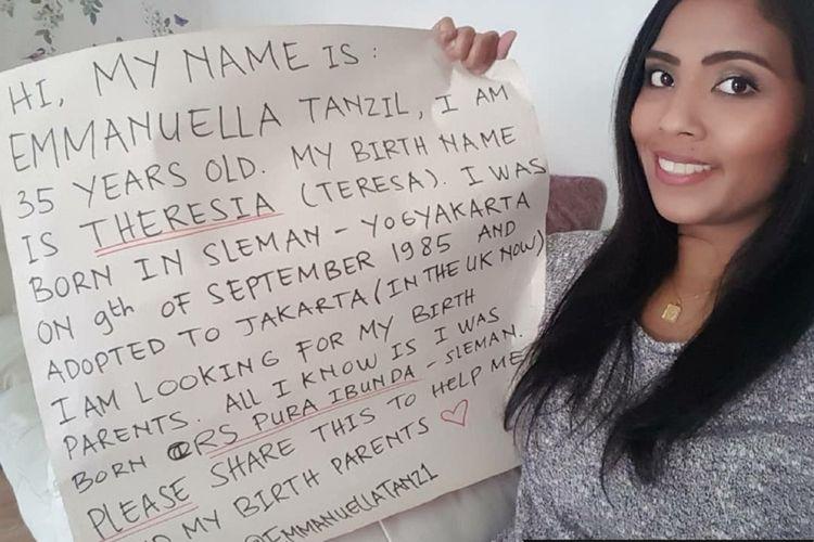 Tangkapan layar dari akun Instagram Emmanuella Tanzil