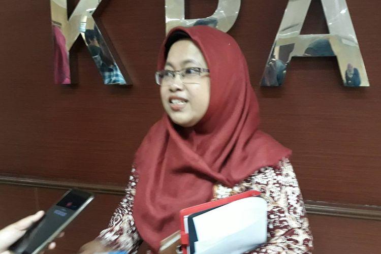 Wakil Ketua KPAI Rita Pranawati di Kantor KPAI, Menteng, Jakarta Pusat, Kamis (26/9/2019).