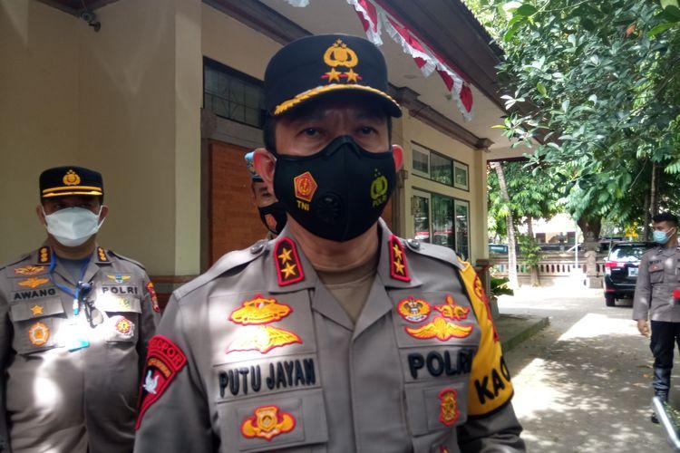 Kapolda Bali Irjen Pol Putu Jayan Danu Putra  di kantor Ombudsman Bali, Denpasar, Jumat (27/11/2020).