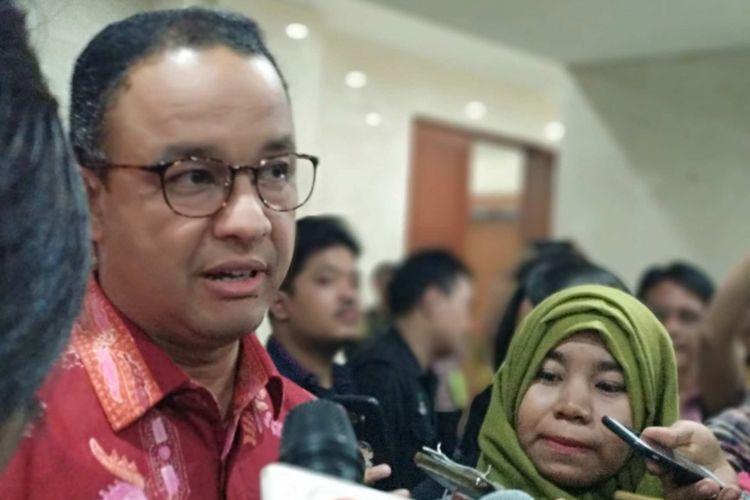 Gubernur DKI Jakarta Anies Baswedan di Kantor Wali Kota Jakarta Barat, Kamis (22/3/2018).