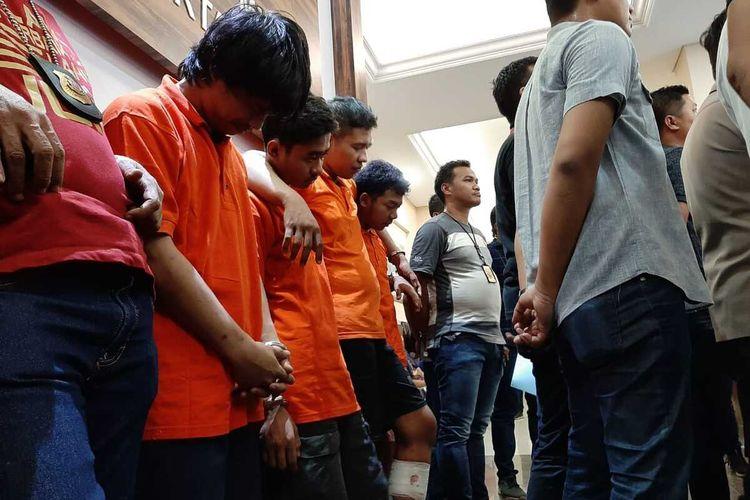 Pengungkapan empat perampok Warteg di Pesanggrahan oleh Polres Metro Jakarta Selatan, Minggu (26/1/2020)