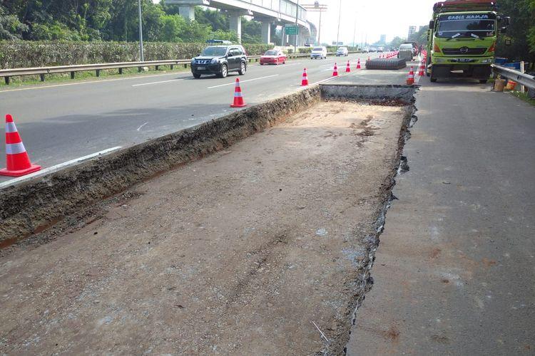 Ilustrasi Jasa Marga lakukan perbaikan jalan tol Jagorawi