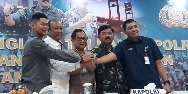 Rapat koordinasi pengamanan Asian Games di Polda Metro Jaya, Senin (30/7/2018).