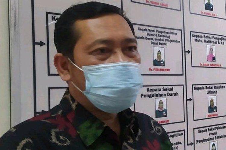 Kabid Pelayananan Humas PMI Kota Surabaya, Martono Adi Triyogo ditemui di Surabaya, Jumat (19/3/2021).