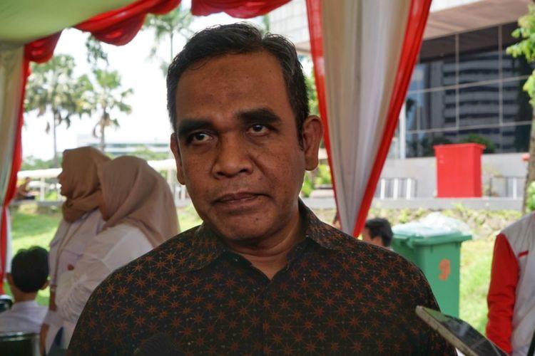 Sekjen Partai Gerindra Ahmad Muzani saat ditemui di Kompleks Parlemen, Senayan, Jakarta, Senin (11/2/2019).