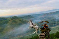 Sambut Pagi dengan Naik Kuda Terbang di Bukit Panguk Bantul
