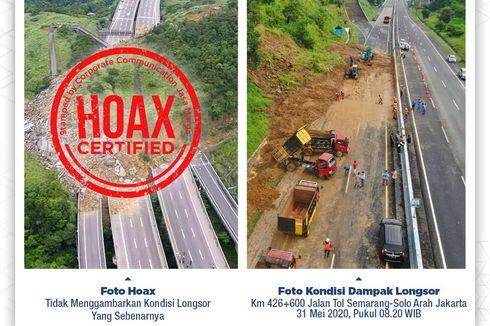 Jasa Marga Klarifikasi Foto Longsor Tol Semarang-Solo Hoaks