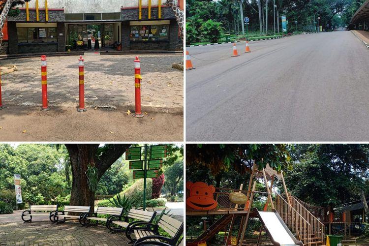 Suasana Taman Margasatwa Ragunan pada lebaran tahun 2020. Tempat wisata ini terlihat sepi akibat pandemi virus corona.