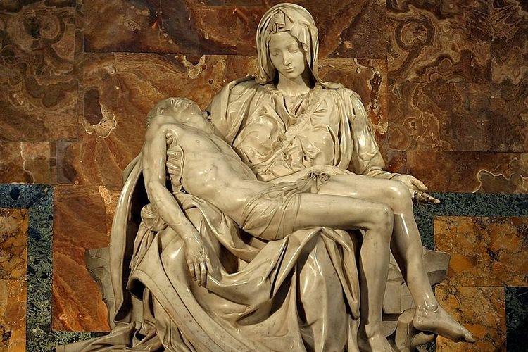 Salah satu karya terbesar Michelangelo, patung Pieta.