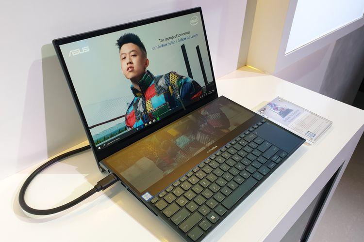 Asus Zenbook Pro Duo, laptop dengan layar ganda.