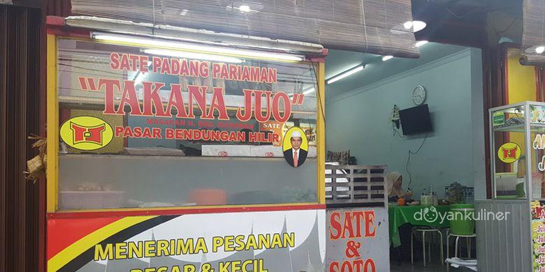 Sate Padang Takana Juo di Bendungan Hilir (Benhil), Jakarta Pusat.