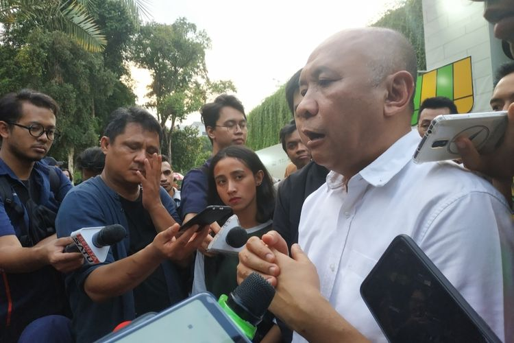 Menteri Koperasi dan Usaha Kecil Menengah (Menkop UKM), Teten Masduki, usai menghadiri acara Gerakan Warung Nasional di Lapangan Banteng, Jakarta Pusat, Sabtu (14/12/2019).