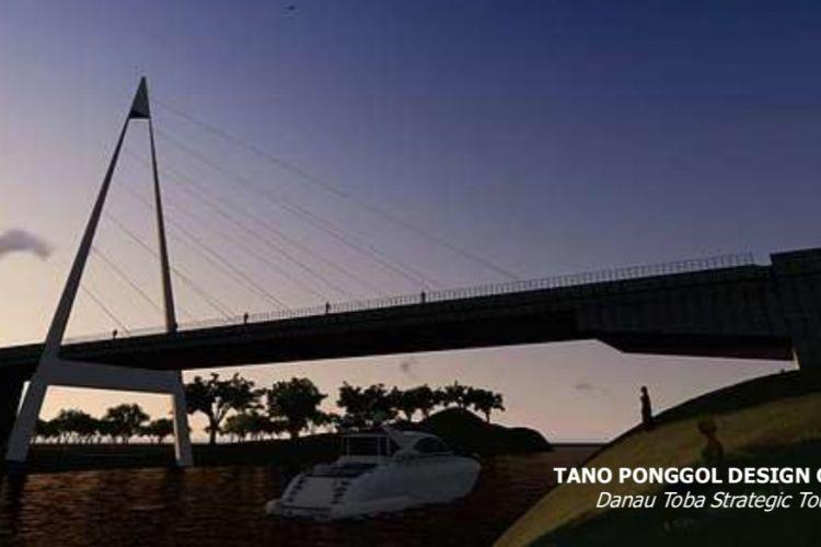 Konsep desain Jembatan Tano Ponggol di Sumatera Utara.