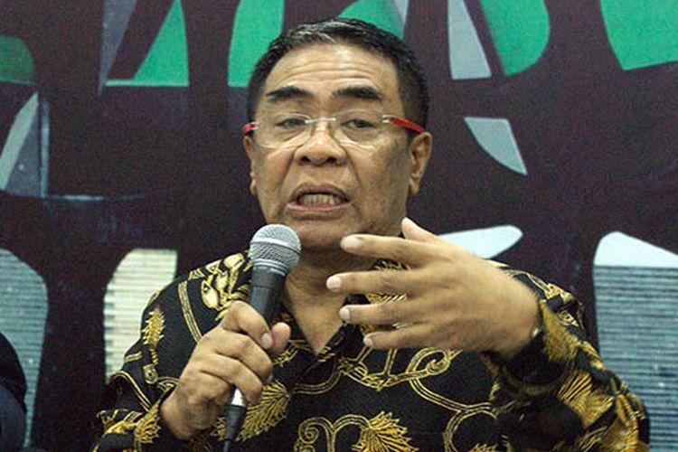 Anggota Majelis Permusyawaratan Rakyat (MPR) RI Sodik Mujahid dalam acara Diskusi Empat Pilar MPR di Media Center Komplek Gedung MPR/DPR/DPD RI, Jakarta, Senin (15/7/2019).