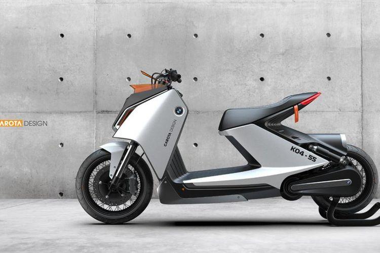 Skuter listrik BMW CE 04 tampil sedikit retro oleh Carota Design