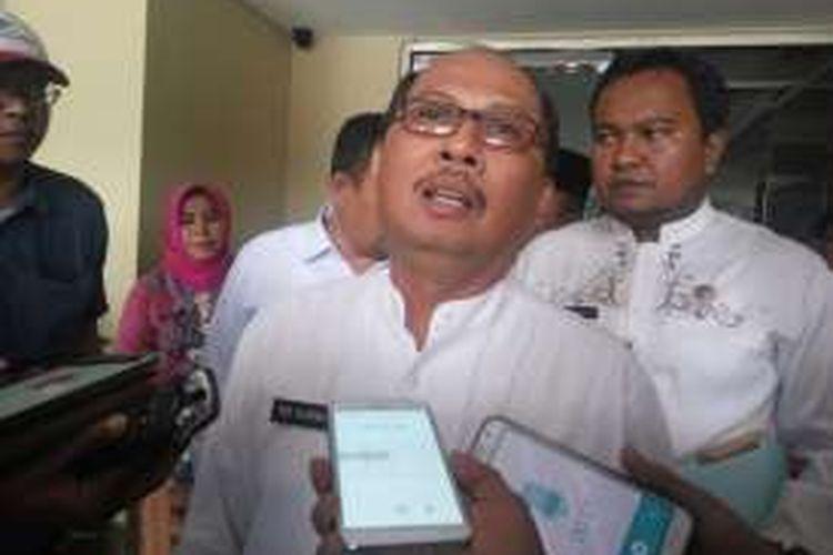 Wali Kota Jakarta Selatan Tri Kurniadi di Mapolda Metro Jaya, Kamis (6/10/2016).