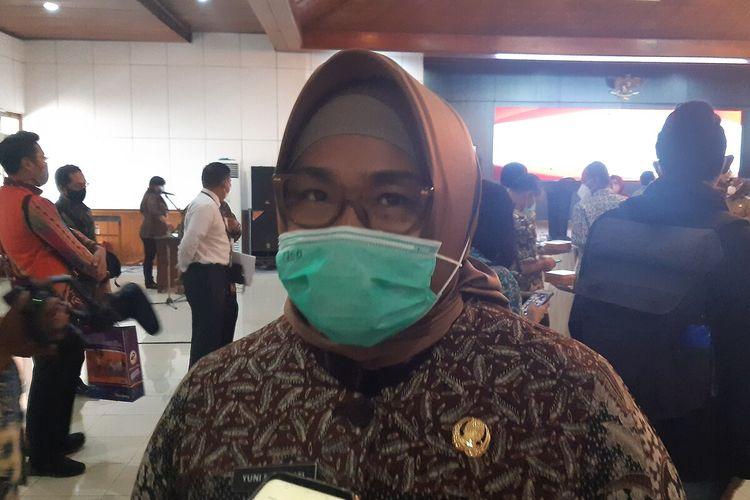 Bupati Sragen Kusdinar Untung Yuni Sukowati, Selasa (23/3/2021).