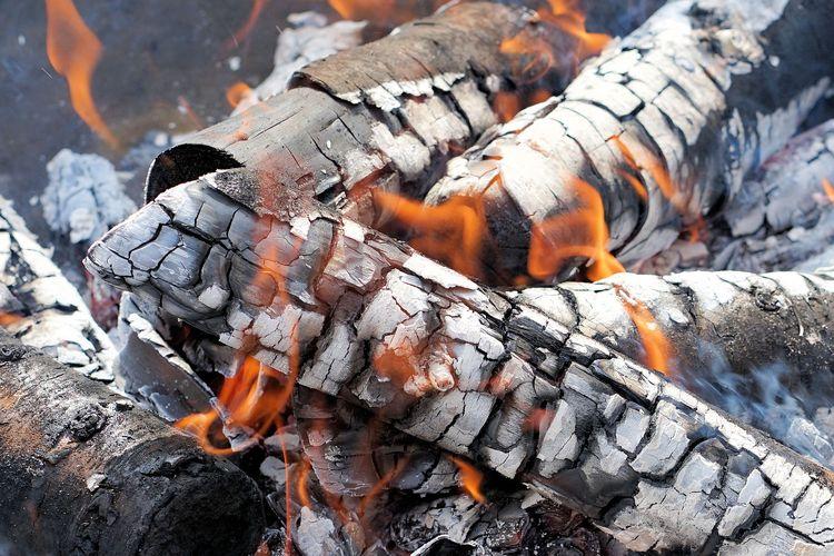 Ilustrasi membakar kayu.