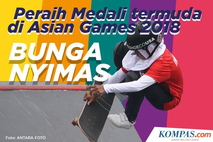 Peraih medali termuda Asian Games 2018, Bunga Nyimas