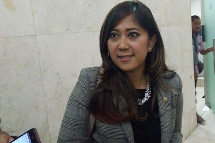Wakil Ketua Komisi 1 Dewan Perwakilan Rakyat (DPR) Meutya Hafidz saat berbincang dengan KompasTekno di Jakarta, Rabu (24/8/2016)