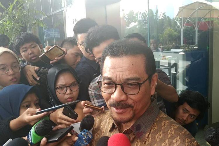Mantan Menteri Dalam Negeri Gamawan Fauzi di Gedung Merah Putih KPK, Jakarta, Rabu (8/5/2019).