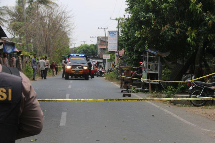 ACEH Tim Jibom Amankan Logam Dilokasi Ledakan