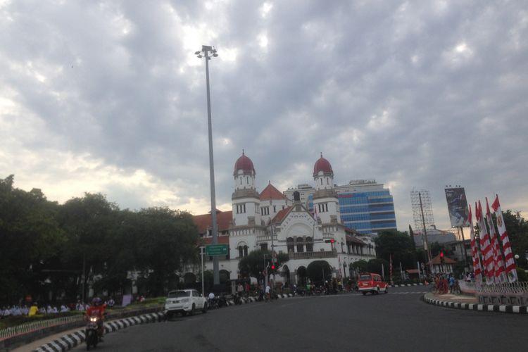 Gedung Lawang Sewu, di Kota Semarang, Jawa Tengah,  Jumat (28/12/2018). Lawang Sewu menjadi salah satu gedung cagar budaya kemudian dialihfungsikan menjadi museum. Gedung ini menjadi landmark Kota Semarang, pada 2018 dikunjungi lebih dari 1 juta wisatawan.