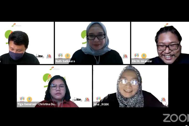 Webinar Pelatihan Psikososial dan Trauma Healing Bagi Tenaga Pendidik yang diselenggarakan oleh Cetta Satkaara dan Rumah Guru BK (RGBK) pada Sabtu, 10 April 2021 dan diikuti 200 guru terpilih setingkat SD, SMP dan SMA Sederajat di seluruh Indonesia.