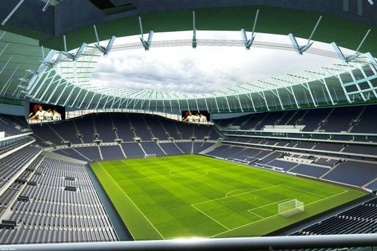 Bagian utara Tottenham Hotspur Stadium.