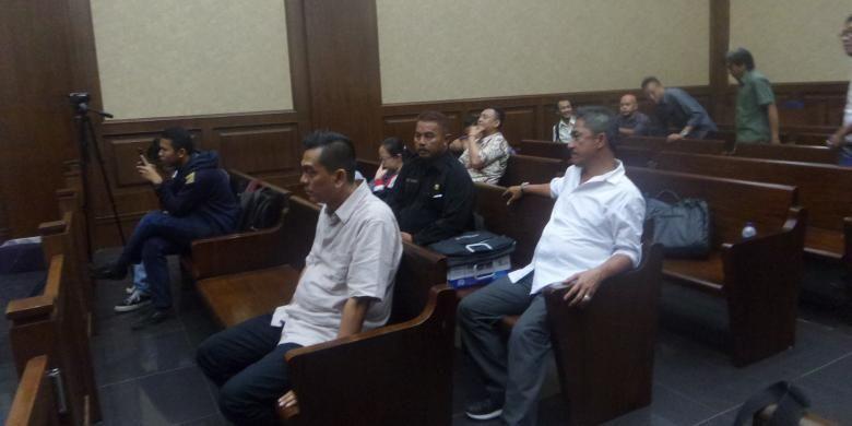 M Sanusi saat hendak membacakan nota pembelaan di Pengadilan Tipikor, Jakarta Pusat, Rabu (21/12/2016)