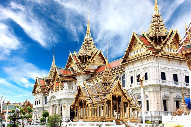 Ilustrasi Thailand - Grand Palace di Bangkok.