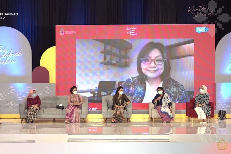 Denni selaku Direktur Eksekutif Manajemen Pelaksana Program Kartu Prakerja dalam Talk Show Peringatan Hari Kartini Tahun 2021 Kementerian Keuangan bertema Kartini Game Changer, Kartini Pendobrak Perubahan, Rabu (21/4/2021).