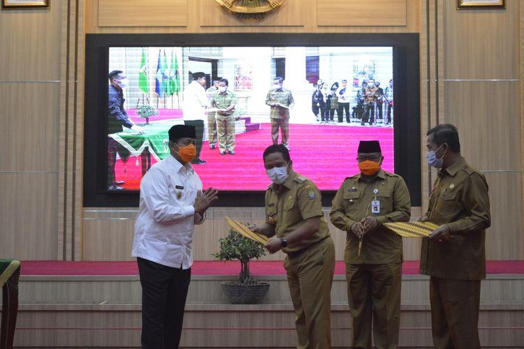 Rapat Koordinasi Program Pemberantasan Korupsi Penertiban dan Penyelamatan Aset Wilayah Banten, di Pendopo Gubernur Banten, KP3B Curug, Serang, Selasa (24/11/2020).