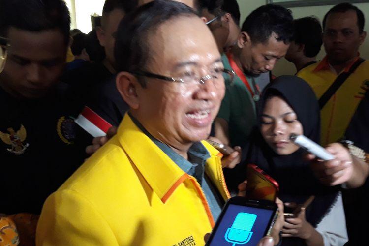 Sekjen Partai Berkarya Priyo Budi Santoso di Kantor DPP Partai Berkarya, Jakarta, Minggu (15/7/2018).