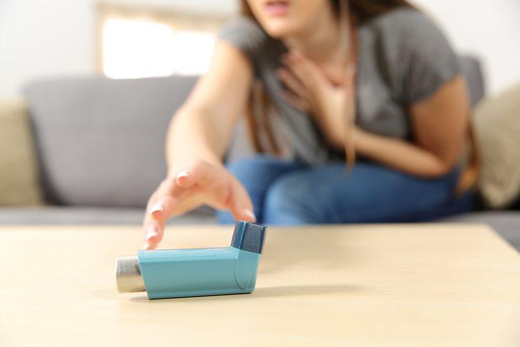 Ilustrasi serangan asma