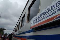 KA Galunggung Bandung-Tasikmalaya Anjlok di Stasiun Bumiwaluya