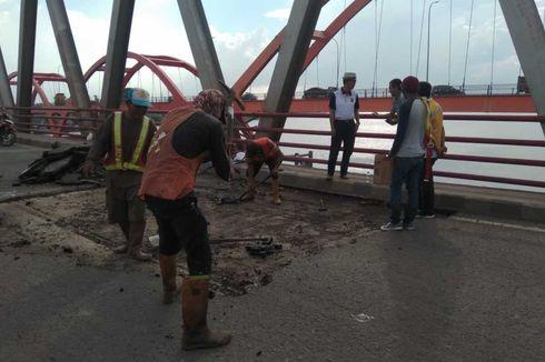 3 Baut Balok Penyangga Lepas, Jembatan Musi II Palembang Ditutup Sementara